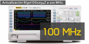 Cómo actualizar el osciloscopio Rigol DS1054Z a 100MHz