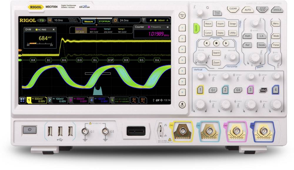Osciloscopio Rigol MSO7024 Turbo